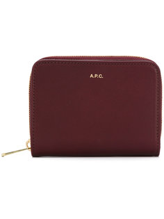кошелек с бляшкой с логотипом A.P.C.
