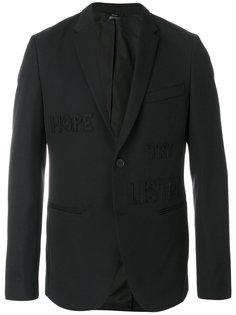 пиджак с вышивкой Fendi