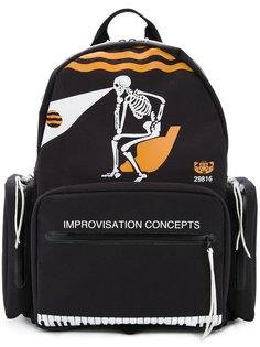 рюкзак с принтом скелета Undercover