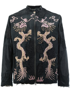куртка с вышивкой драконов By Walid