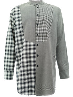контрастная клетчатая рубашка с нагрудником Song For The Mute