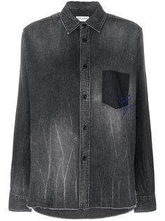 джинсовая рубашка с логотипом  Saint Laurent