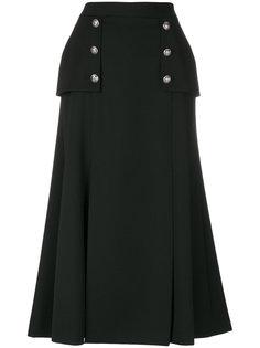 длинная юбка милитари  Alexander McQueen