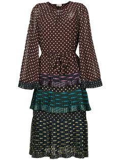 многоярусное платье в горошек Zimmermann