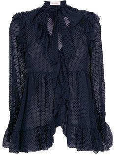 блузка Folly с оборками Zimmermann