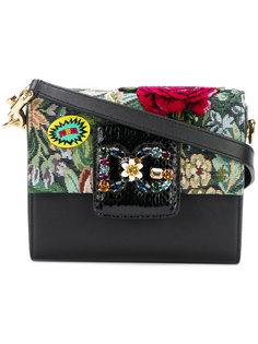 сумка на плечо с цветочной вышивкой Dolce & Gabbana