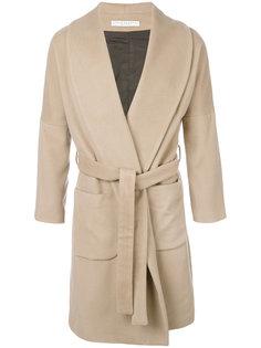 пальто с поясом Lucio Vanotti