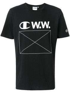 футболка с принтом с логотипом Champion