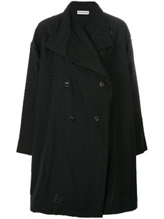 двубортное пальто  Issey Miyake