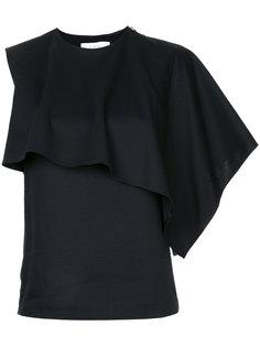 асимметричная блузка-кейп  Le Ciel Bleu