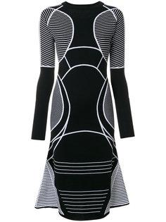 расклешенное платье с контрастной отделкой  Versace