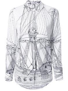 рубашка с принтом корабля  Equipment