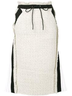 твидовая юбка-карандаш Sacai