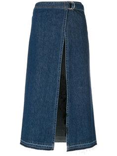 джинсовая юбка с запахом Sacai