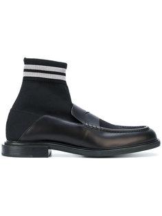 хайтопы-лоферы с носочной вставкой Fendi