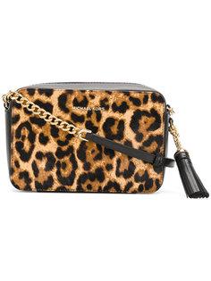 сумка на плечо с леопардовым принтом Michael Michael Kors