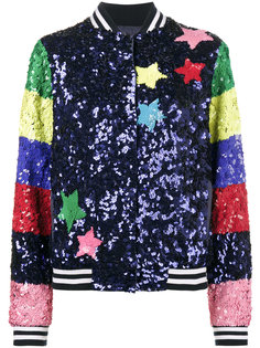 Sequin Bomber With Rainbow Sleeves Mira Mikati