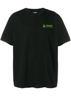 футболка с принтом логотипа Raf Simons
