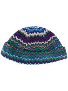 шапка-бини с узором зигзаг Missoni