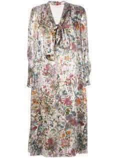 платье с цветочным принтом Tory Burch