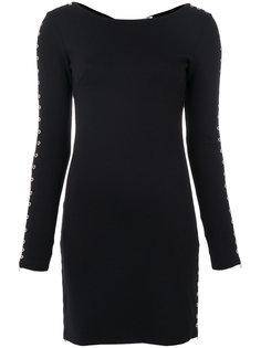 короткое платье с молниями на рукавах  McQ Alexander McQueen