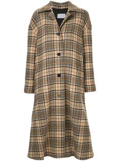 long checked coat Walk Of Shame