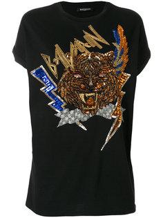 футболка с отделкой пайетками  Balmain