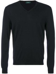 свитер узкого кроя с V-образной горловиной Zanone