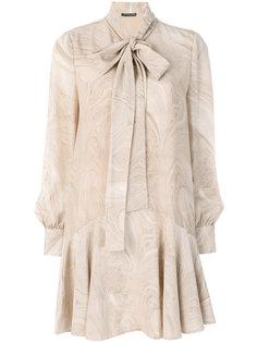 платье мини с мраморным принтом Alexander McQueen