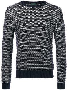 полосатый свитер с круглым вырезом Zanone