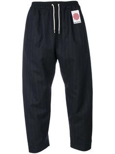 pinstripe cropped trousers Umit Benan