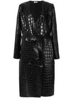 пальто с тисненым крокодиловым узором  Attico