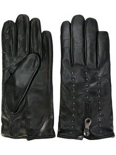 перчатки на молнии с заклепками Eleventy