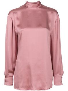 блузка с каскадной драпировкой сзади  Valentino