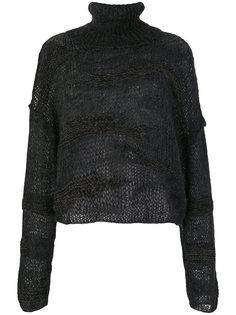 полупрозрачный свитер с отворотом  Isabel Benenato