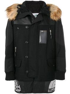 куртка с капюшоном и меховой отделкой Junya Watanabe Comme Des Garçons Man