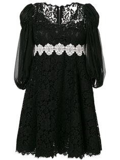 платье с вышивкой ришелье  Dolce & Gabbana