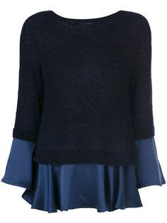 пуловер с плиссированными краями Semicouture