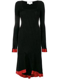 трикотажное платье с квадратным вырезом и асимметричным подолом Esteban Cortazar