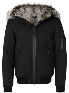 куртка с капюшоном с меховой оторочкой Mackage