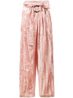 бархатные широкие брюки Beatrice Rejina Pyo