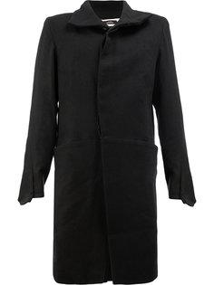 пальто с потайной застежкой A New Cross