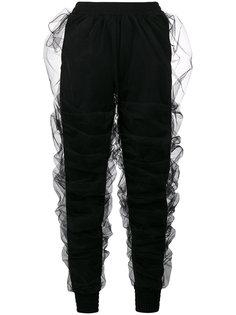 трикотажные брюки с драпировкой из тюля  Y / Project
