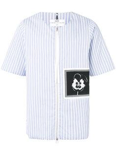 объемная рубашка в полоску с нашивкой Oamc