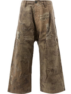 широкие брюки с принтом Ziggy Chen