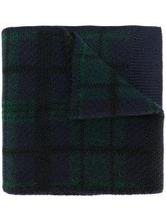 трикотажный шарф в шотландскую клетку Bally