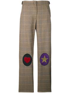 брюки с нашивками на коленях  Ultràchic