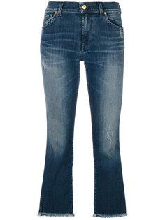 выбеленные укороченные джинсы  7 For All Mankind
