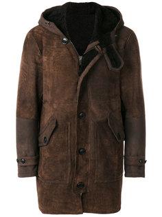 пальто с капюшоном Dondup