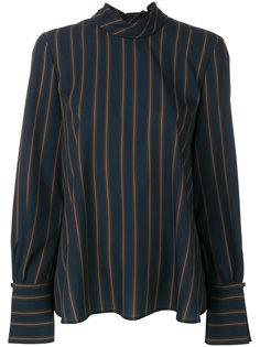 расклешенная рубашка в полоску  Luisa Cerano